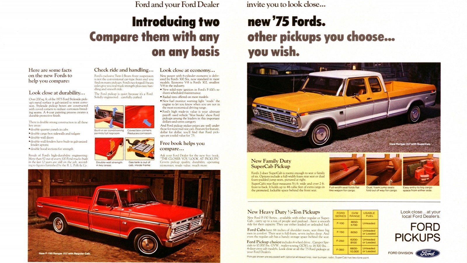 1975 Ford F-150 and SuperCab