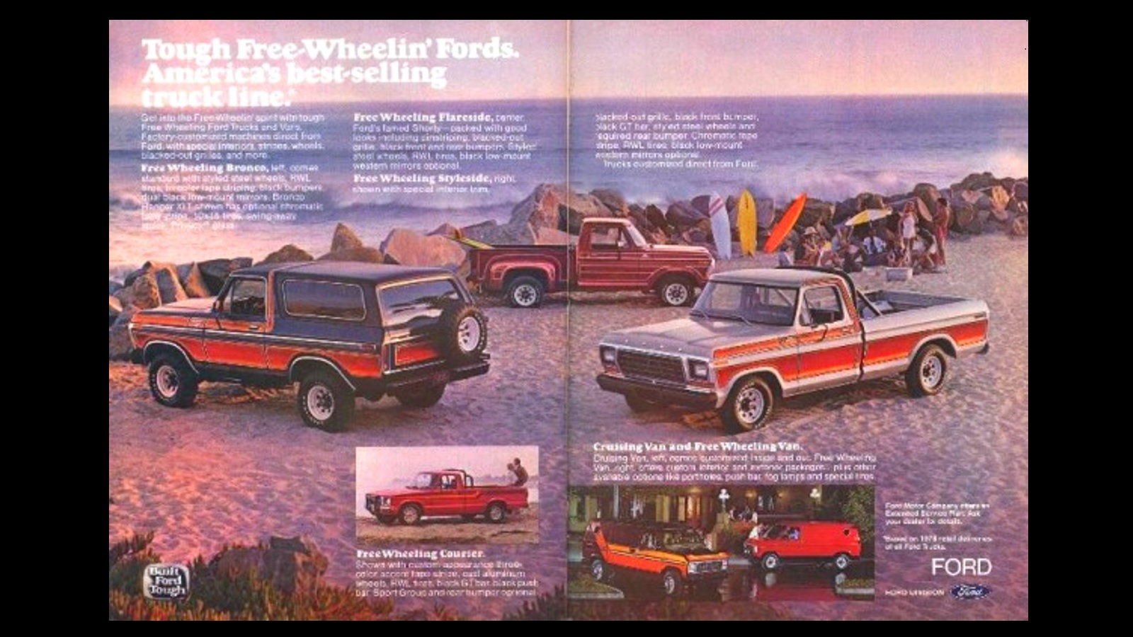 9. 1978 Ford F-150 Free Wheeling Edition
