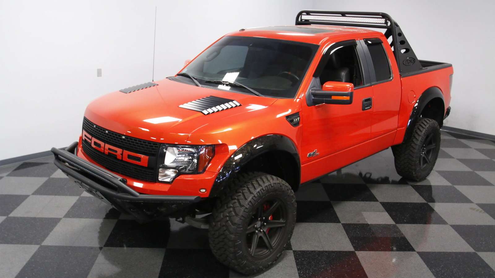 Molten Orange Raptor Takes You Off-Road