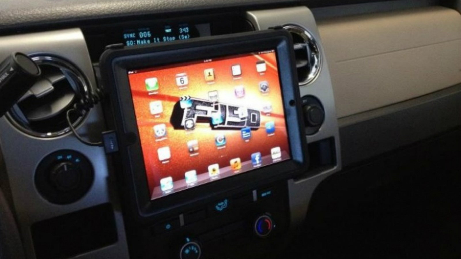Mounted iPad