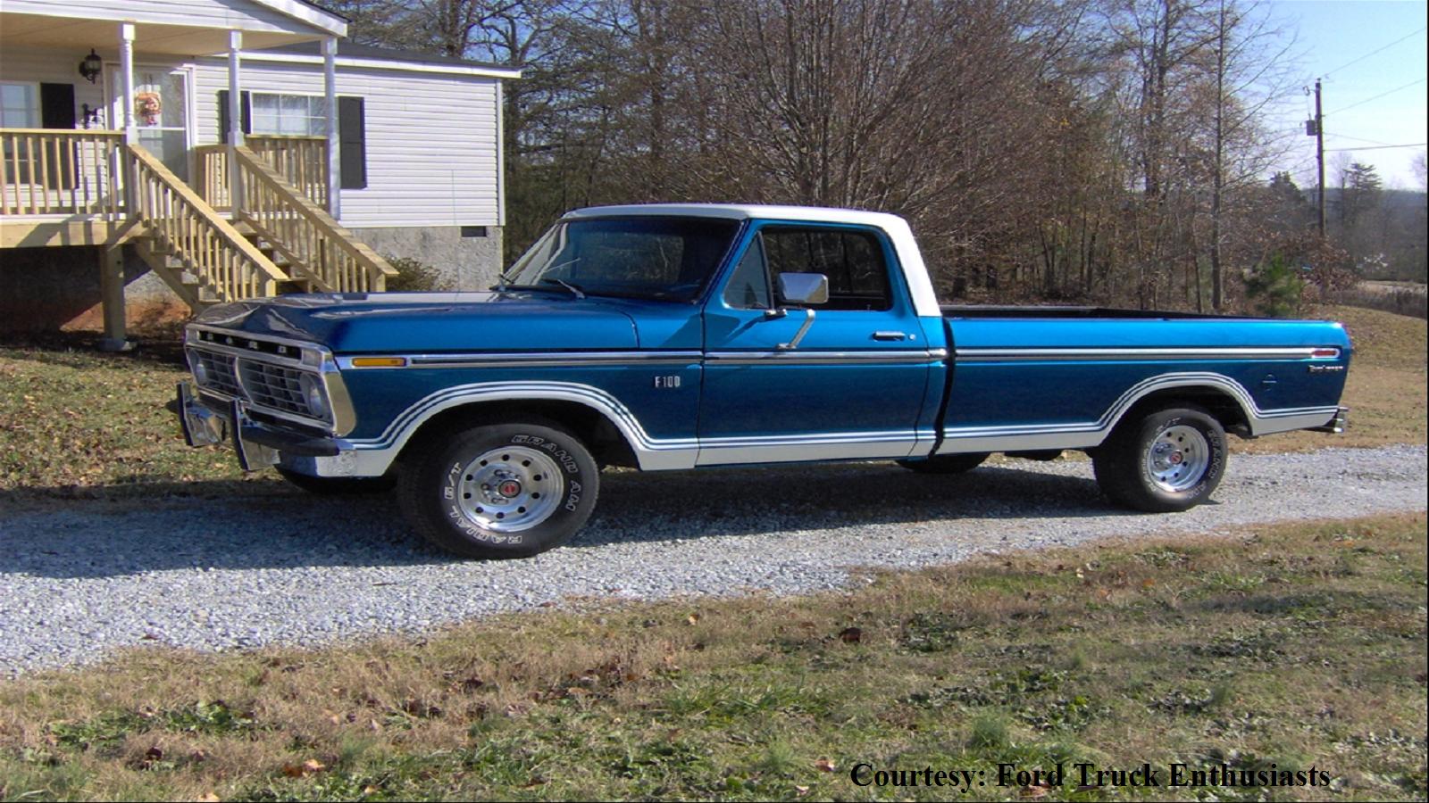 Midnight Blue Ford F-100 Truck