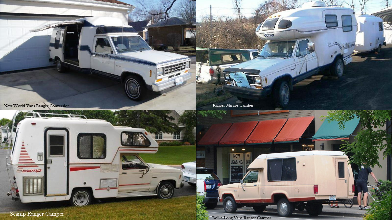 Old School Ford Ranger Campers