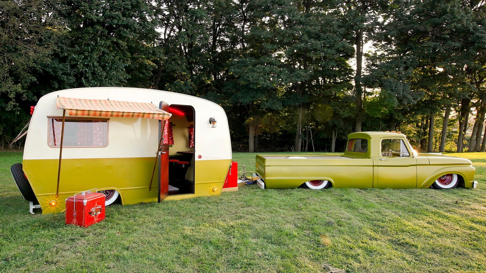 Ford F-100 Is One-Half of Ultimate Retro Glamping Combo