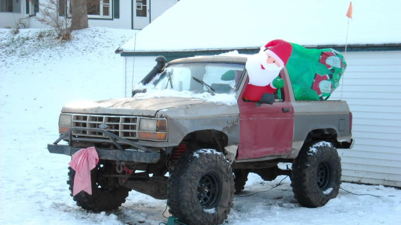Santa's Mud Fun Bronco