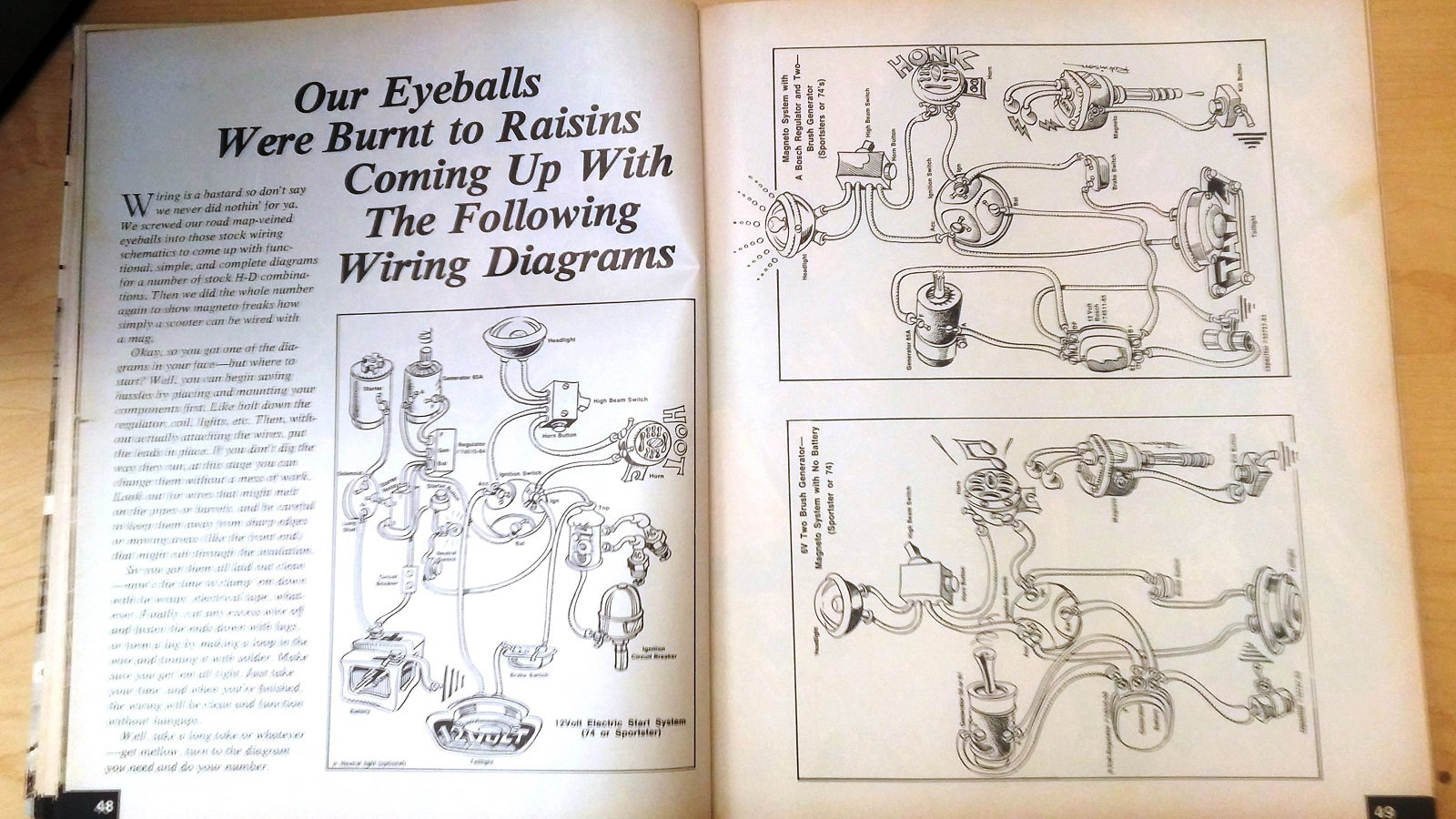 12 Cool Things Learned From The 1977 Jammers Handbook Hdforums Cycle Electrics Panhead Wiring Diagram Just How Simple Can Be