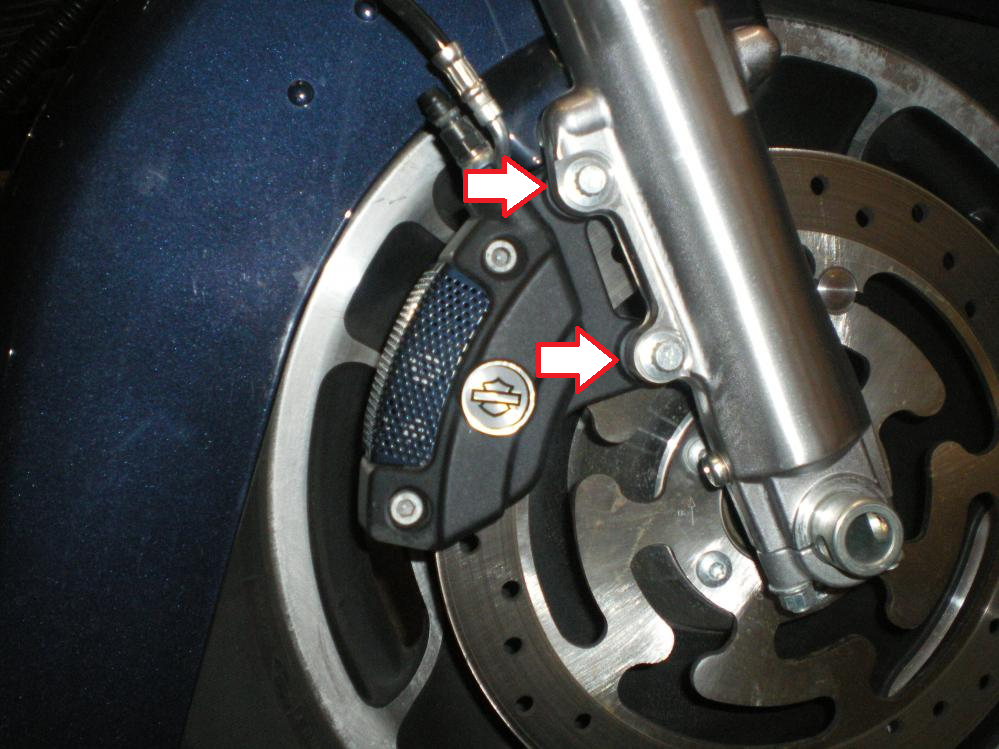Harley Davidson Touring How to Replace Brake Pads Calipers and