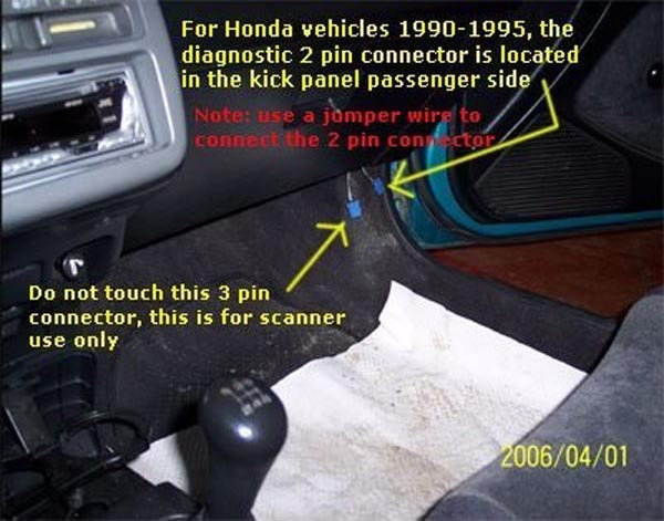Honda Accord How To Use A Scan Tool Hondatechrhhondatech: 1996 Honda Accord Obd Connector Location At Gmaili.net