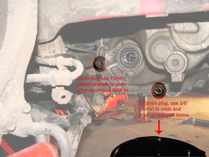 2001 honda civic manual transmission fluid check
