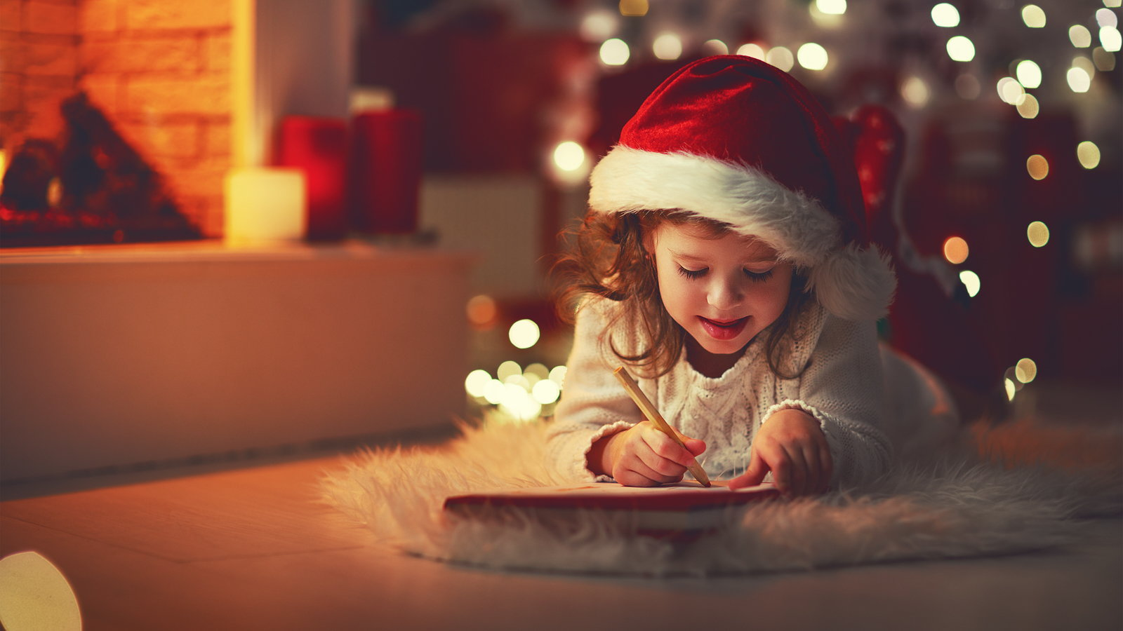 girl writing Santa