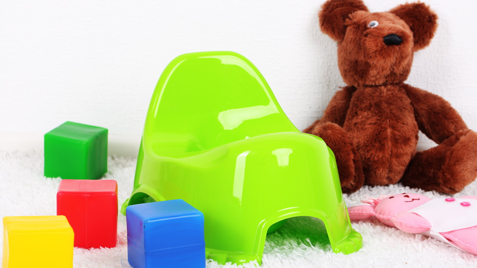 potty seat and toys