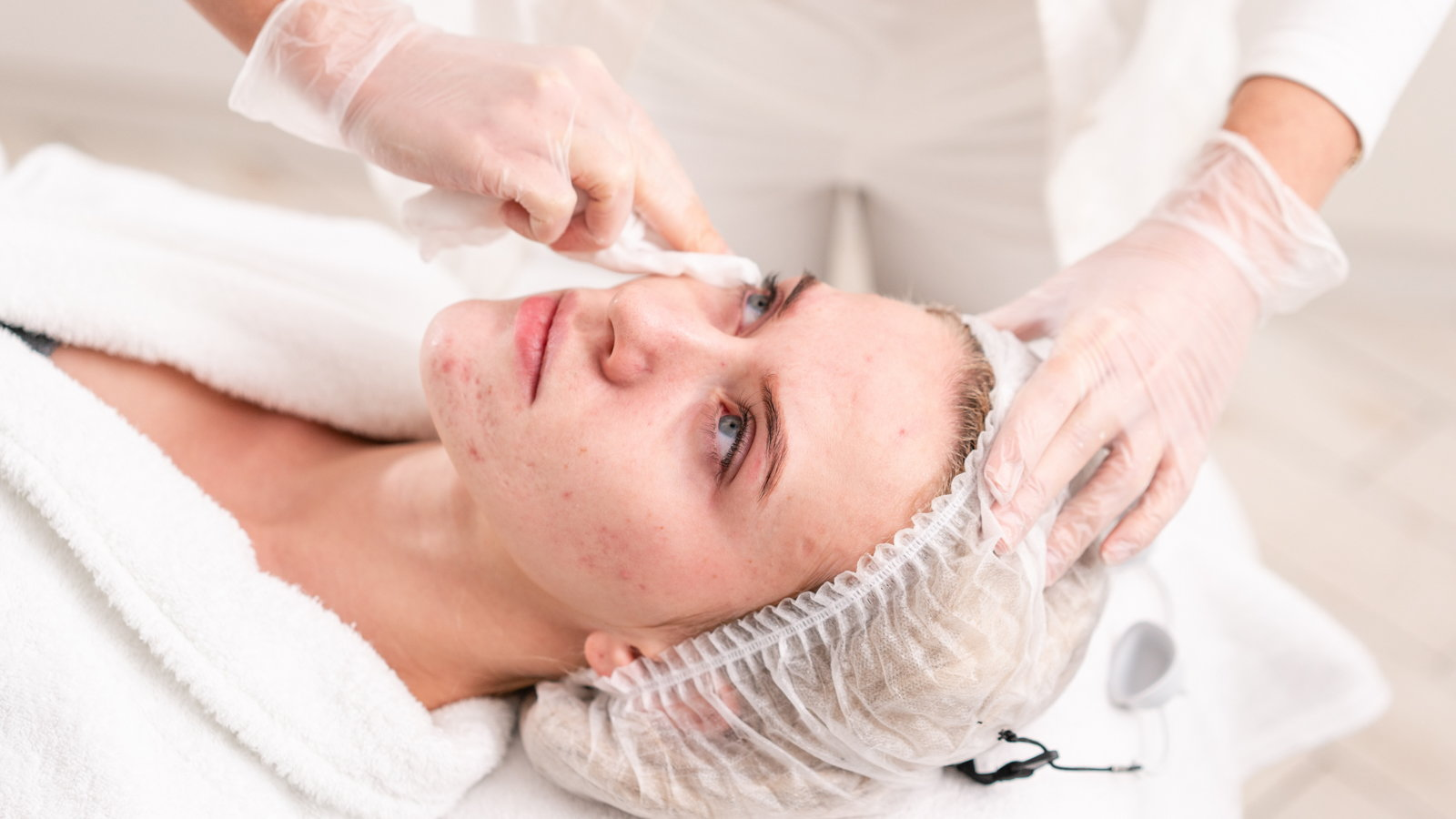 woman getting skincare treatment
