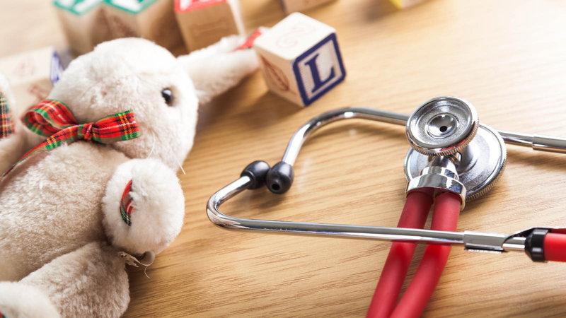 Stuffed animal with baby blocks