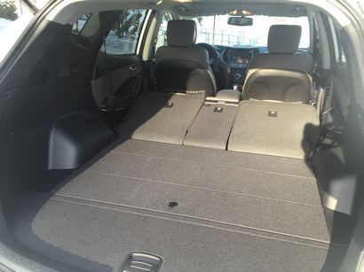 2016 Hyundai Santa Fe Sport AWD 2.0T cargo area detail