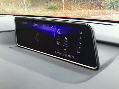 2016 Lexus RX 12-inch dashboard touchscreen detail
