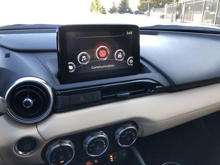 2019 Mazda MX-5 Miata Grand Touring infotainment screen