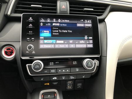 2019 Honda Insight Touring touchscreen and climate controls