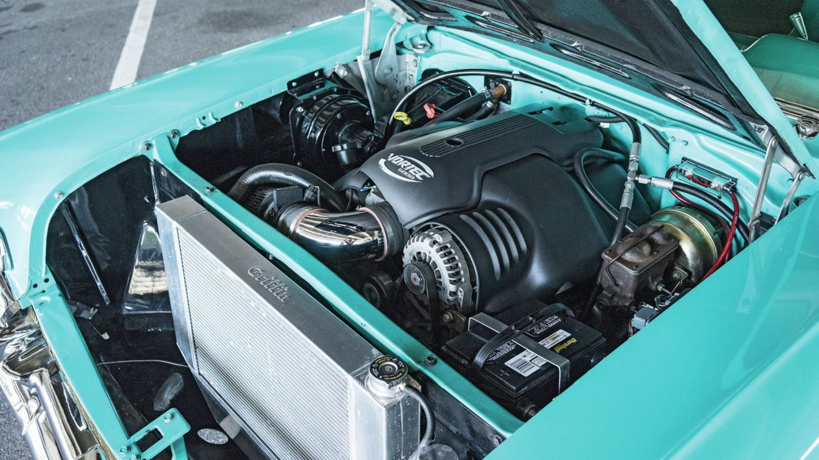 10 Facts About Ls Swapping A Tri Five Chevy Ls1tech 1957 Engine Wiring Harness When In An It Is Important To Have The Correct Oil Pan Avoid Crossmember Interference Issues Of Choice For Most Swaps