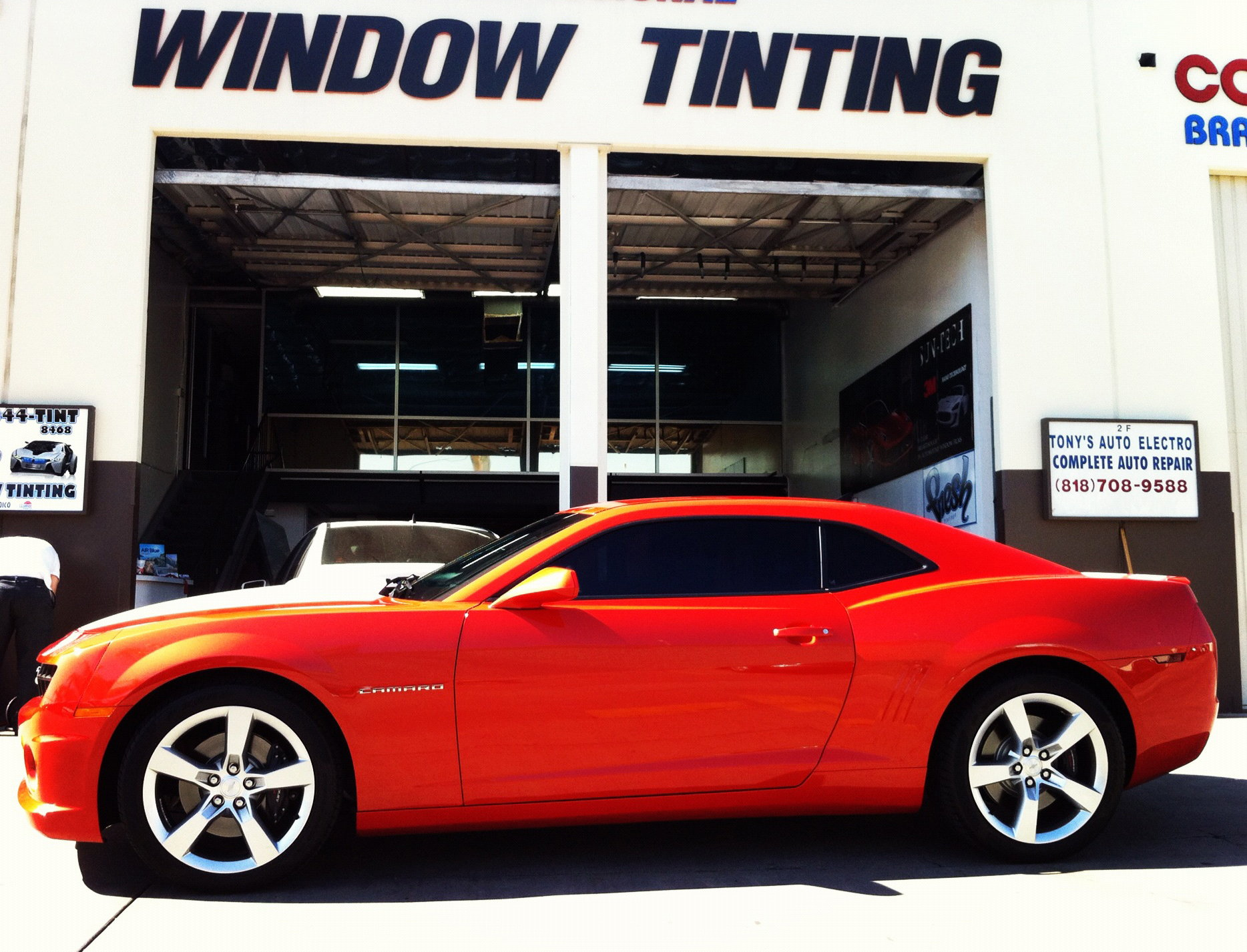 Chevrolet camaro 2010 to 2015 window tint modifications for 5 percent window tint