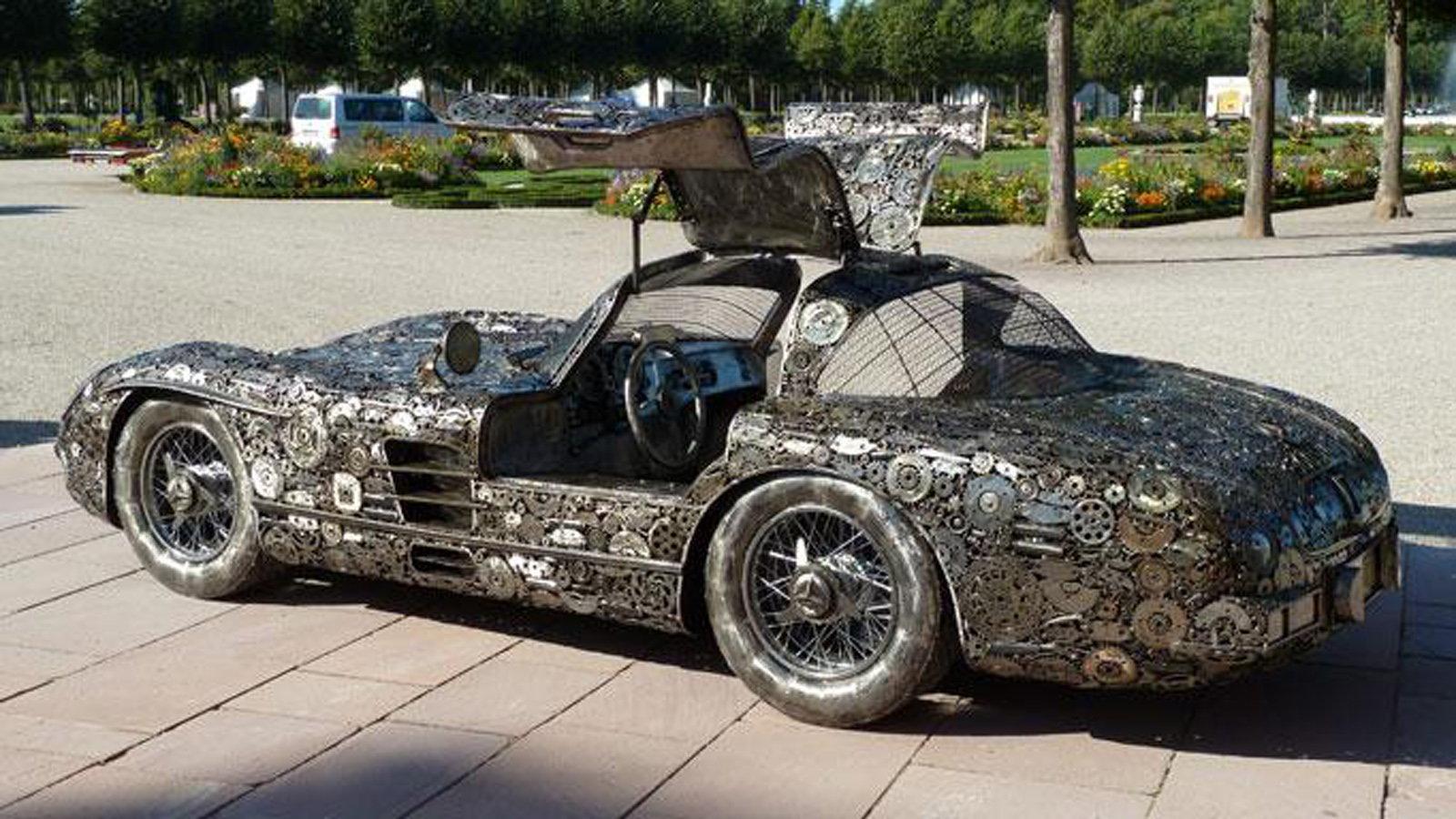 The Mercedes 300 SLR Scrap Metal Replica