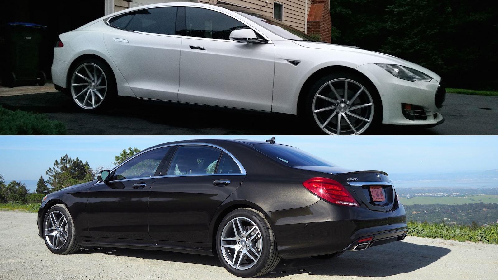 2014 Tesla S vs the 2014 Mercedes S550