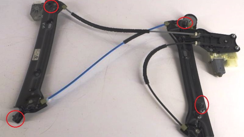 The regulator is held in place at 4 points