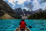 A sober traveler has an adventure on a canoe.