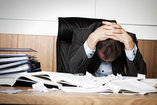 employee suffering from occupational burnout
