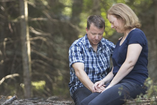 Couple in relationship going through addiction recovery healing together