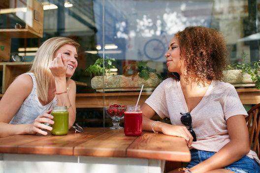 2 women at a sober bar