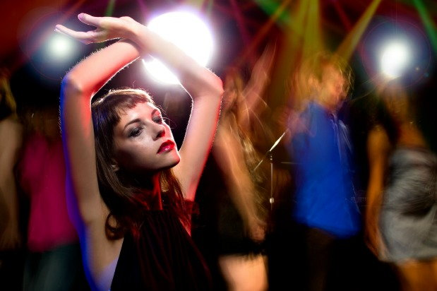 Woman dancing in a club