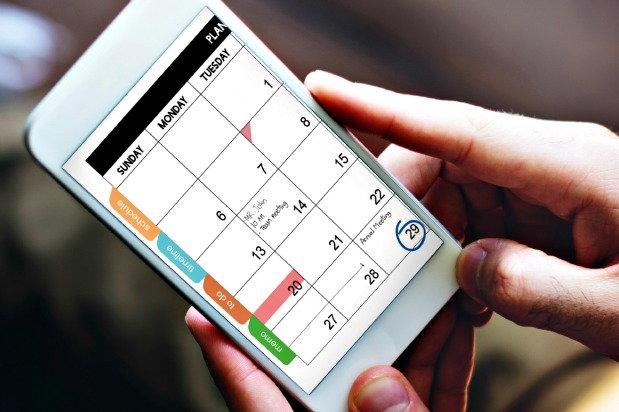 calendar on smart phone
