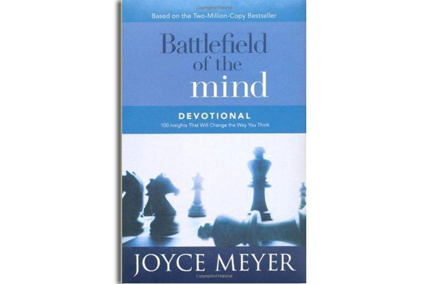 "Front cover of the book ""Battlefield of the Mind Devotional"" by Joyce Meyer"