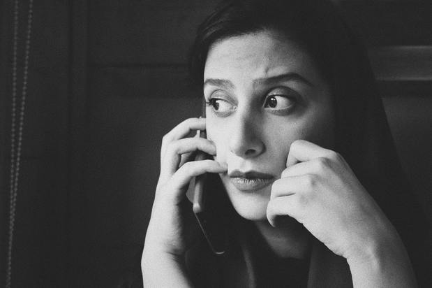 woman on a phone call