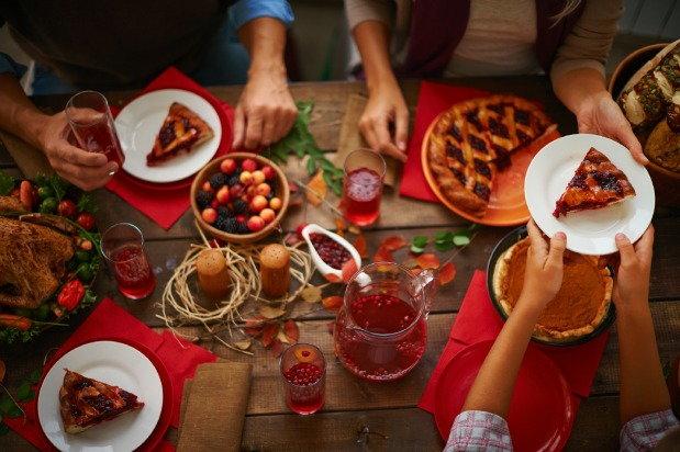 Festive family dinner