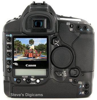 Canon EOS-1D Mark II N Pro SLR. Photos are (c) 2001 Steve's Digicams