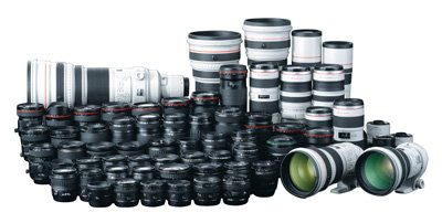 Canon EF lenses.  Photo (c) Canon USA.