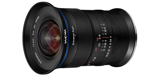 Venus Optics Laowa 17mm f/4 GFX Zero-D Lens