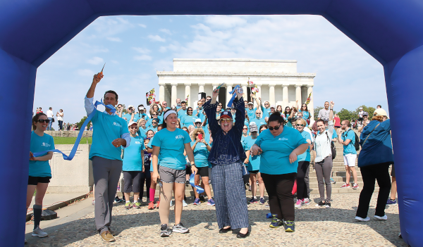 LE&RN Spokesperson Kathy Bates leads 2018 Washington, DC Rally & Walk to Fight Lymphedema & Lymphatic Diseases