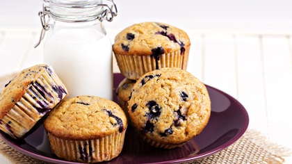 Blueberry banana muffins.