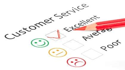 A customer service survey.