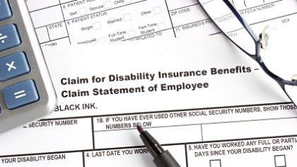 A disability insurance form.