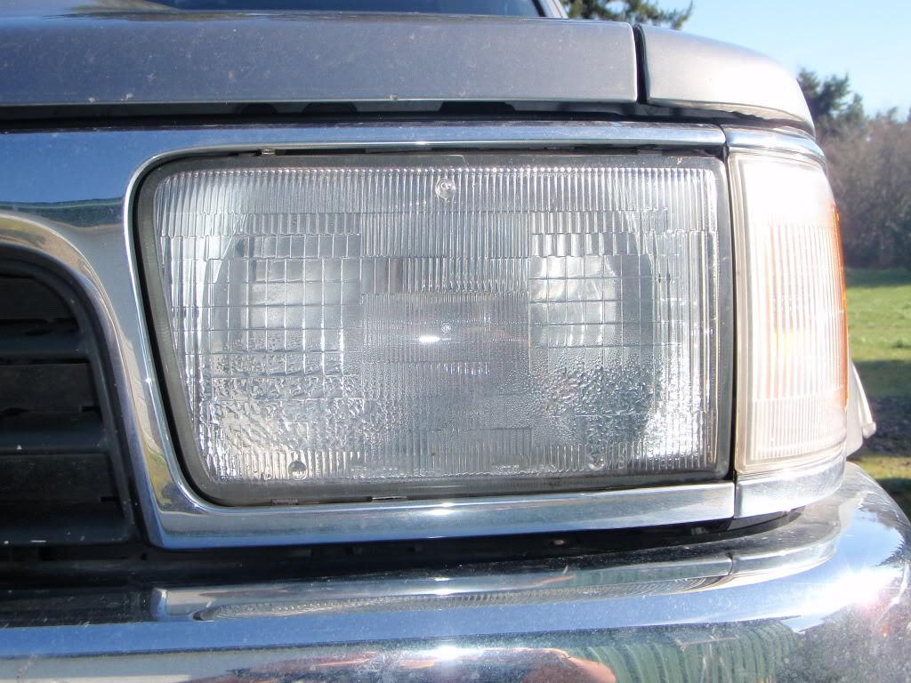 Condensation on inside of headlight