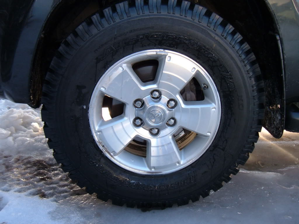 Winter tires handle icy conditions very well.