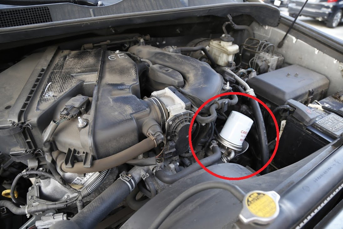 Toyota Tundra oil filter location, replace