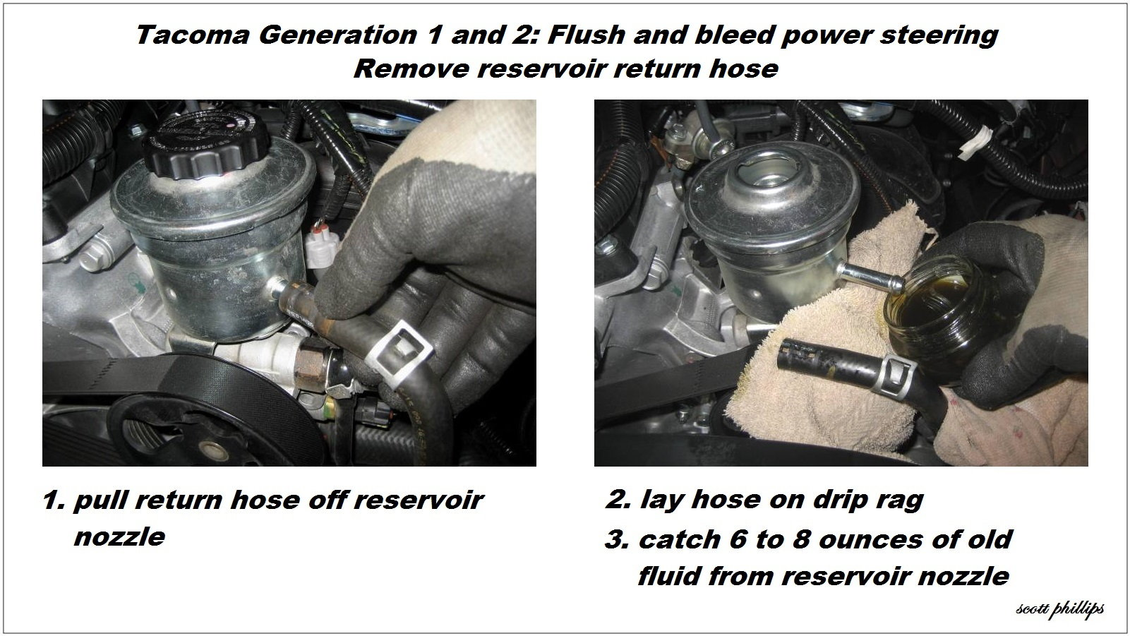 Toyota Tacoma How to Bleed Air Out of Power Steering Pump