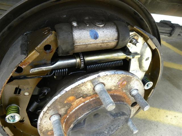 toyota 4runner parking drum brake remove removal install replace how to location instructions