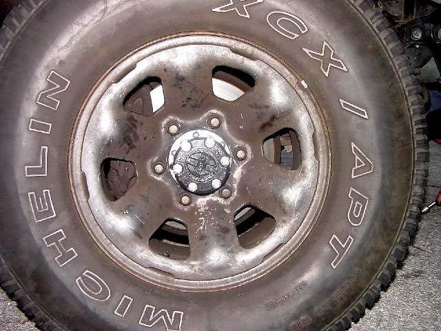 Reinstalling wheel