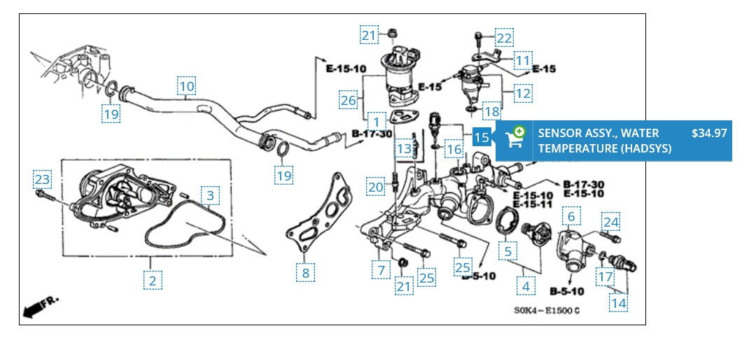 Acura Cl Parts Diagrams Trusted Wiring Diagram - 2001 acura cl transmission