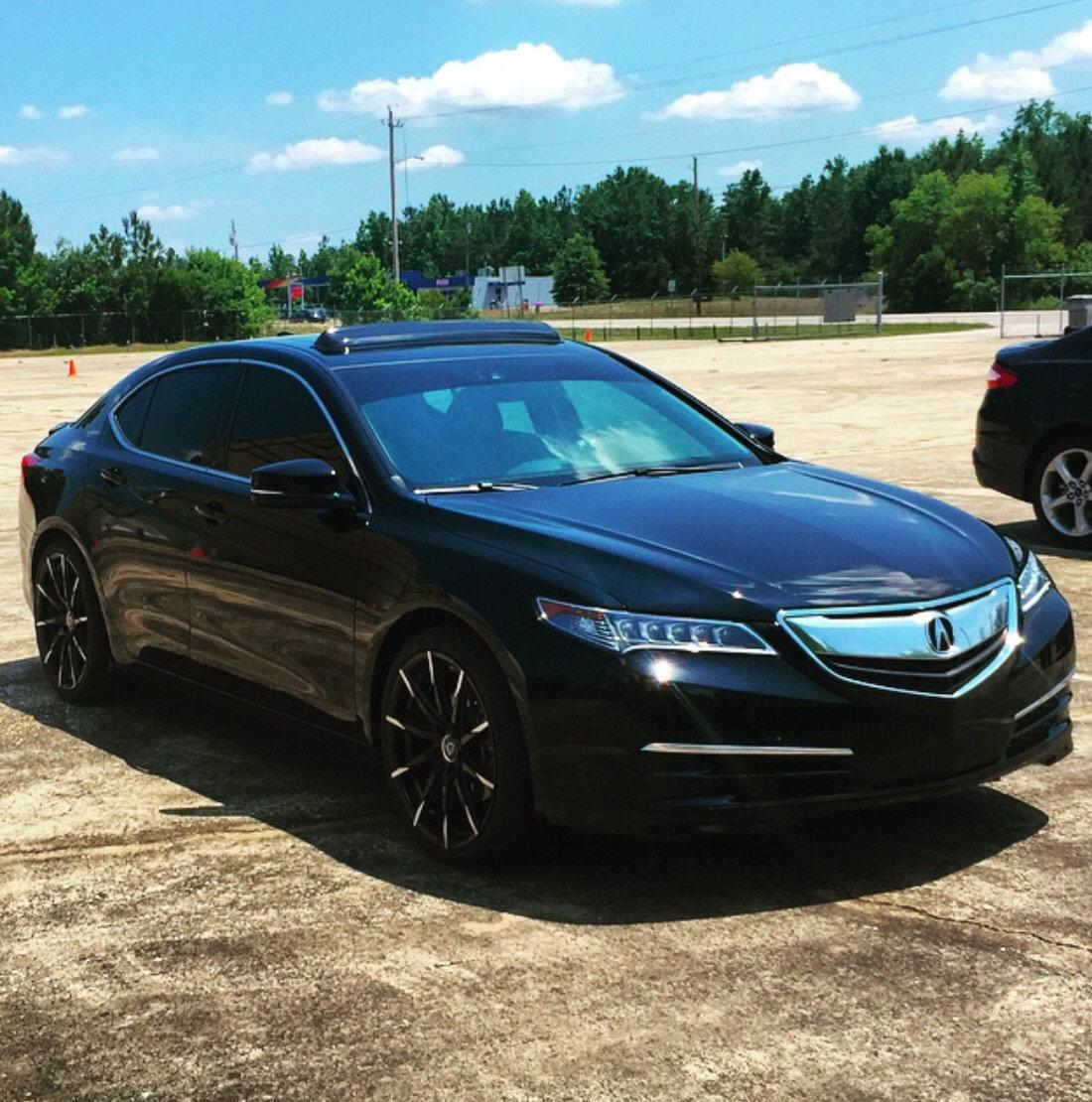 Black TLX With Lexani Wheels