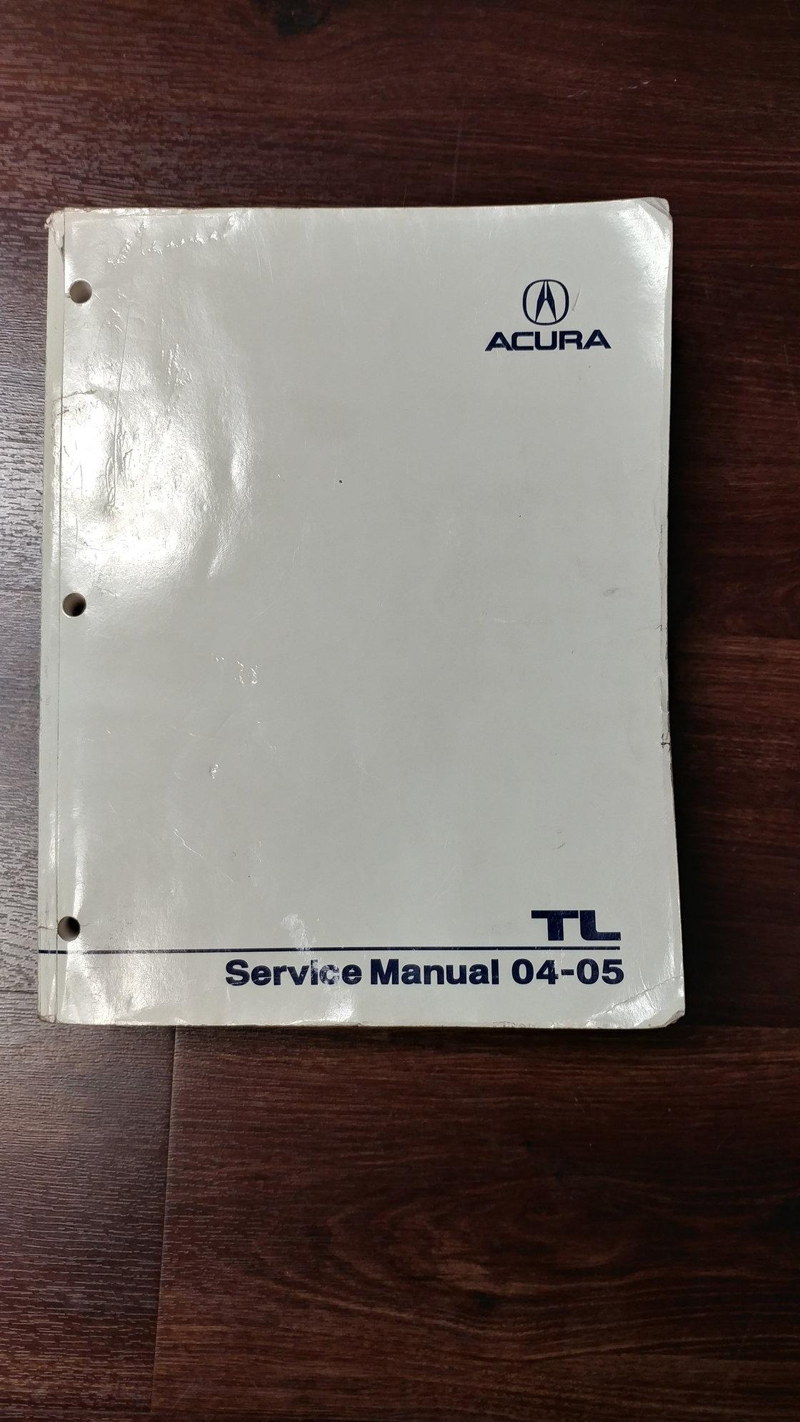 2004-2006 Acura TL Service Manual